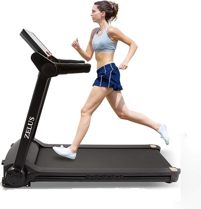 tapis roulant pieghevole elettrico macchina per training aerobico e fitness con controllo app,display lcd co-z b08l39q7r5