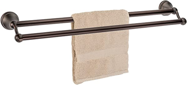 Dynasty Hardware Brentwood 24 Inch Double Towel Bar Oil Rubbed Bronze