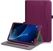 Fintie Coque pour Samsung Galaxy Tab A6 A 10.1 2016 - [Protection d'angle] Étui de Protection Multi Angles Stand Housse Case Cover avec Pocket et Fonction Sommeil/Réveil Automatique, Pourpre