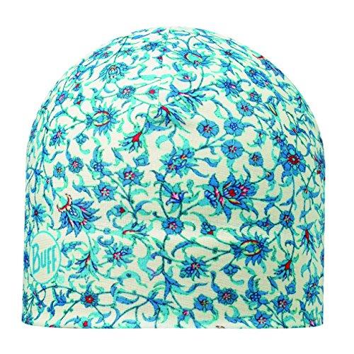 Buff Bonnet Polaire pour Adulte Taille Unique Fleur Turquoise.