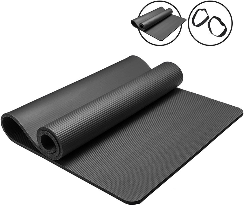 Yoga Matten Verdicken 15mm erweitern anfnger Fitness-Matte Rutschfeste Yoga tanzmatte für mnner und Frauen Fitness (Farbe   schwarz)
