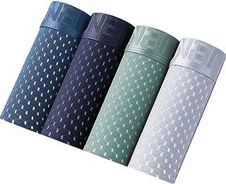FSSE Mens Breathable Underwear Mesh Ice Silk 4 Pack Boxer Briefs