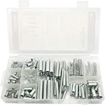 NORTOOLS 200 PCS Zinc Plated Compression and Tension Spring Assortment Set for Shop and Home Repairs Small Projects