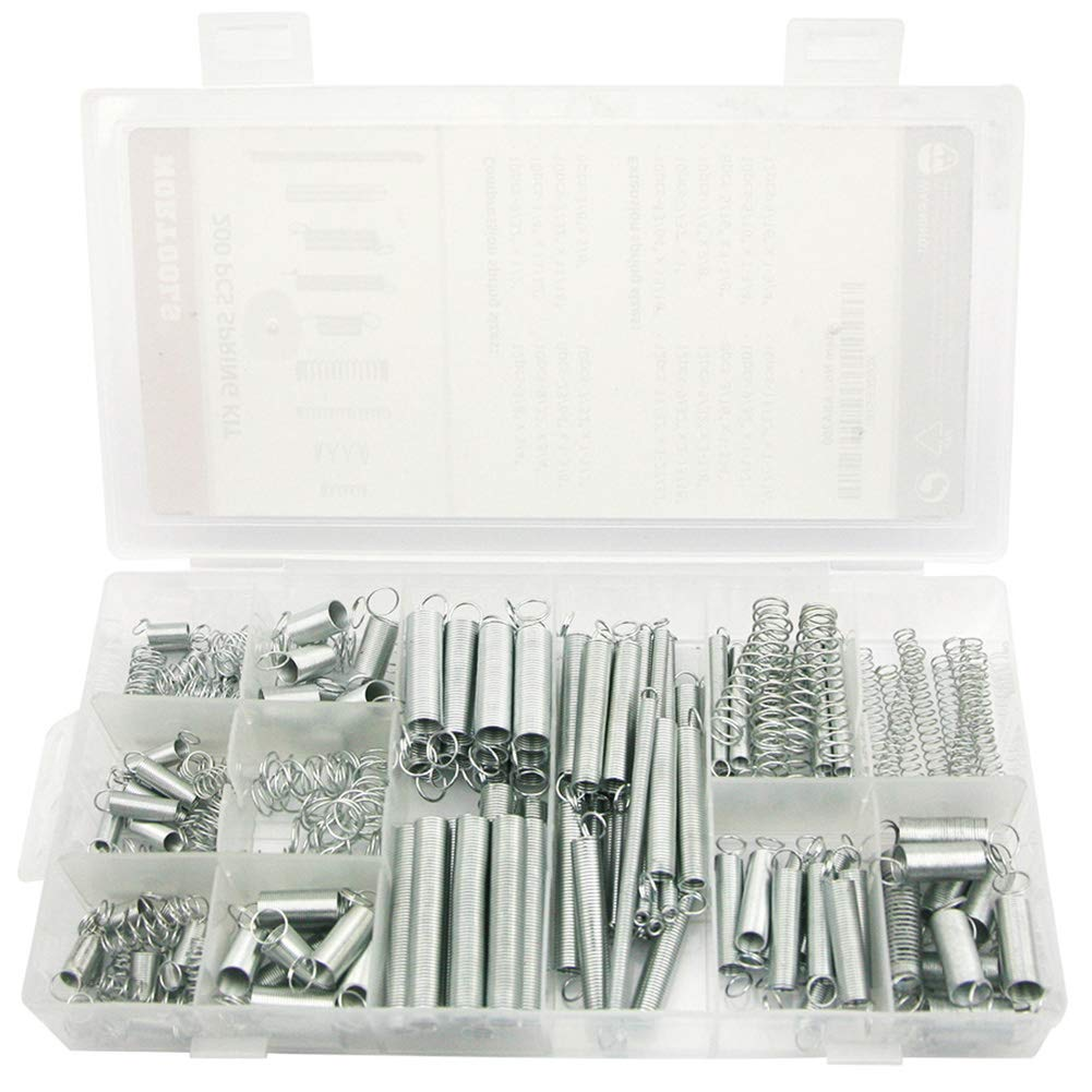 NORTOOLS 200 PCS 2021 Zinc Plated and Asso Tension Spring Compression OFFer