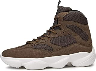 YKDY New Sports Shoes Wild Casual High-top Shoes(Color:Army Green Size:39)