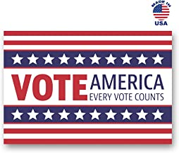 VOTE AMERICA postcard set of 20 identical voting postcards. Every Vote Counts! Great for elections, writing to your Representative, or Get Out the Vote Campaigns voter post cards. Made in USA.