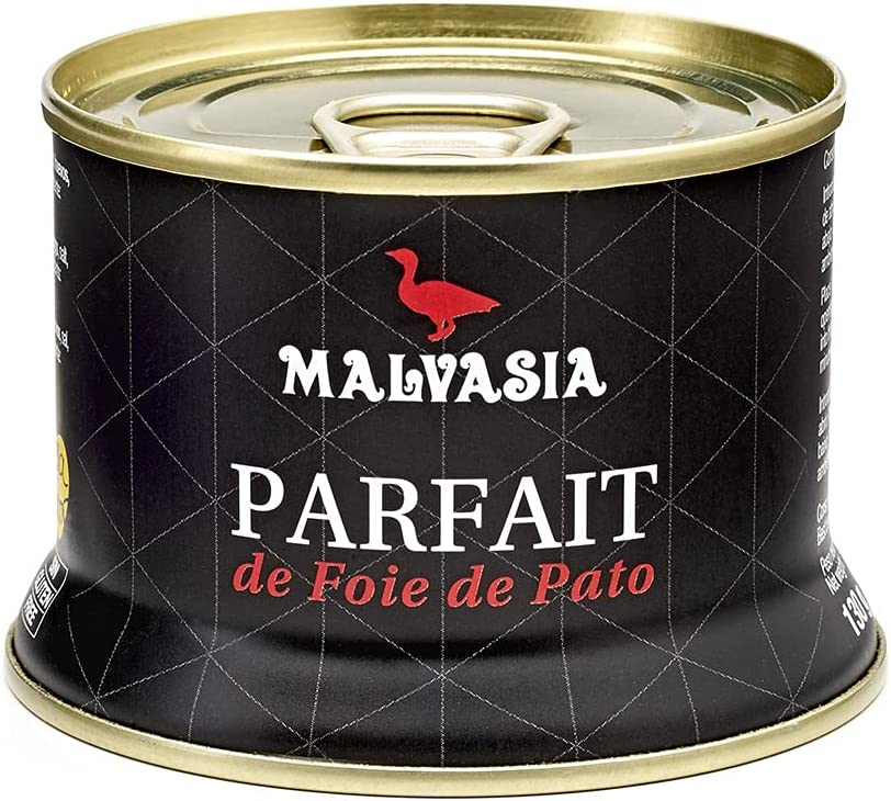 MALVASIA Parfait de Foie de Pato, Lata Abre Fácil de 130 g