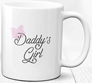 Taza de café para niña de papá 330 ml Taza de cerámica para regalo de cumpleaños para padre e hija