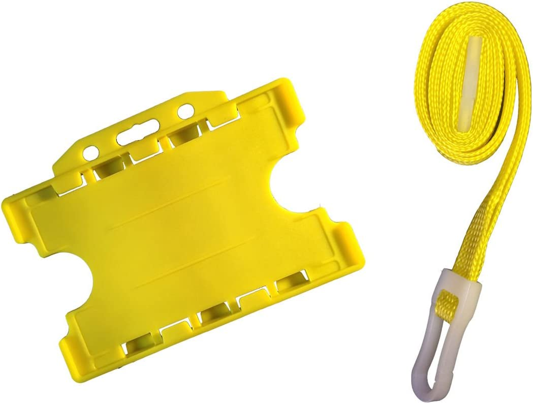 ID Card It Badge Holder Yellow Strap Lanyard Neck AND Safety Superior 100% quality warranty!