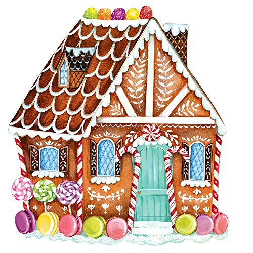 Hester & Cook Paper Placemat, Pad of 12 (Die-Cut Gingerbread House)