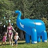 Modenny 夏の子供のベビープレイ水のおもちゃゾウインフレータブルスプリンクラー人形PVC親子インタラクティブ水屋外水泳プールの玩具サマーキッズプレイの楽しさをスプレー