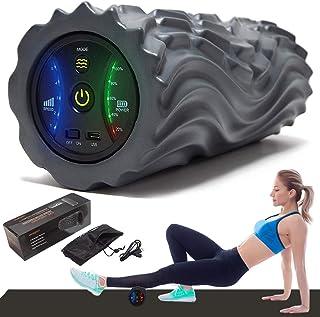2020進化版 電動 フォームローラー 筋膜リリース 振動 5段階調節2種類モード ヨガポール トレーニング スポーツ フィットネス ストレッチ器具 USB充電式 日本語説明書付 収納バッグ