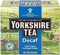 Yorkshire Tea Decaf (ヨークシャー デカフェティー 80袋)- 80 Bags / 250g【海外直送品】【並行輸入品】