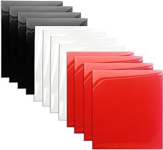 HTV Vinyl Red White and Black Heat Transfer Vinyl Bundle 12