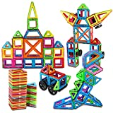 Magnet Blocks for Kids, HAS 96 Piece Magnetic Tiles Building Set Toys for Ages 3-8, 3D Construction Kit Gift for Boys and Girls, Colorful Durable Magnet Tiles, Storage Bag & Creative Book
