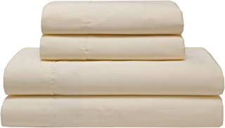 Elite Home Products Inc Organic 300 Thread Count Cotton Sheet Set Ivory King