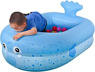 Inflatable Baby Pool Pufferfish Inflatable Floating Raft, 160 * 135 * 35cm Kid's Paddling Pool, Summer Water Play Center f...