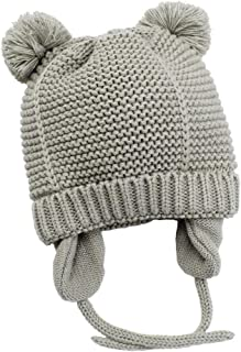Paladoo Baby Beanie Hat with Cute Earflap Warm Fleece Lining 0-36 Months Winter