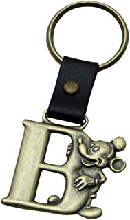 Mickey Mouse Letter B Brass Key Chain