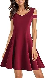 HELYO Women's Elegant Cold Shoulder Dinner Party Dress Sweetheart Neckline Wedding Guest A Line Dresses 168