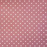 Rose Pink Popeline Stoff 100% Baumwolle, mit weißen