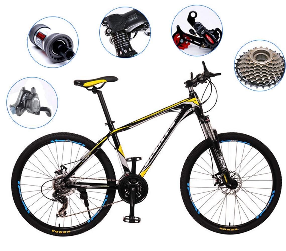 Bicicleta de carretera Circuito de bicicleta de fitness 27 pulgadas 27 engranaje freno de doble disco Bicicleta urbana para hombres y mujeres para que los estudiantes adultos viajen al aire libre: Amazon.es: