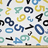 ABAKUHAUS Zahlen Stoff als Meterware, Mathe-Design,