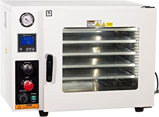 Across International AT19-UL.110 Ai Accutemp UL CSA Certified 1.9 cu. ft. Vacuum Oven with 5 Sided Heating 110V Purging Oven with LCD Control, Gas Back-Fill Capability, Stainless Steel