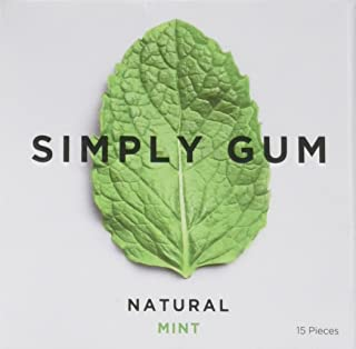 Simply Gum Natural Mint Chewing Gum, 15 ct