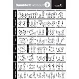 Dumbbell Workout Exercise Poster - NOW LAMINATED - Strength Training Chart - Build Muscle, Tone & Tighten - Home Gym Weight Lifting Routine - Body Building Guide w/Free Weights (18'x27', Vol 2)