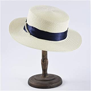 ZHANGBIN 夏の新しいフラットシルクハットカジュアル野生の帽子の女性の緩い日焼け防止サンバイザー日よけ帽子 (Color : Milk white)