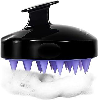 HEETA Scalp Massager, Updated Hair Shampoo Brush for Wet and Dry Hair, Scalp Massage Brush for Women, Men and Pet (Black Flower)