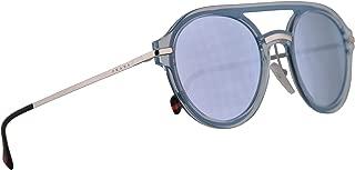 PS05TS Sunglasses Azure w/Blue Mirror White Lens 51mm 0P85Q0 PS 05TS SPS 05T SPS05T
