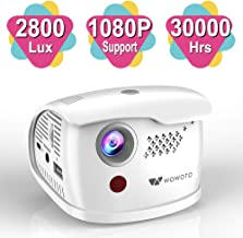 WOWOTO Q1 Pro Mini Projector Portable 2800 Lux Android 7.1 WiFi Wireless & Bluetooth Video ProjectorSupport 1080P HD/USB/SD Card/for Kids Electronic Gifts/Games/Education/Travel/Business/Home Cinema