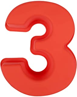 LIHAO Molde de Silicona Números Moldes de Formas Específicas para Tarta Pastel Repostería Cumpleaños Aniversario de Bodas - Número 3