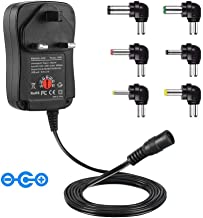 Adaptador universal de CA CC, 30 W, 3 V, 4,5 V, 5 V, 6 V, 7,5 V, 9 V, 12 V, fuente de alimentación para tabletas, routers, altavoces, LCD, CCTV, cámara, reproductor de CD, electrónica del hogar