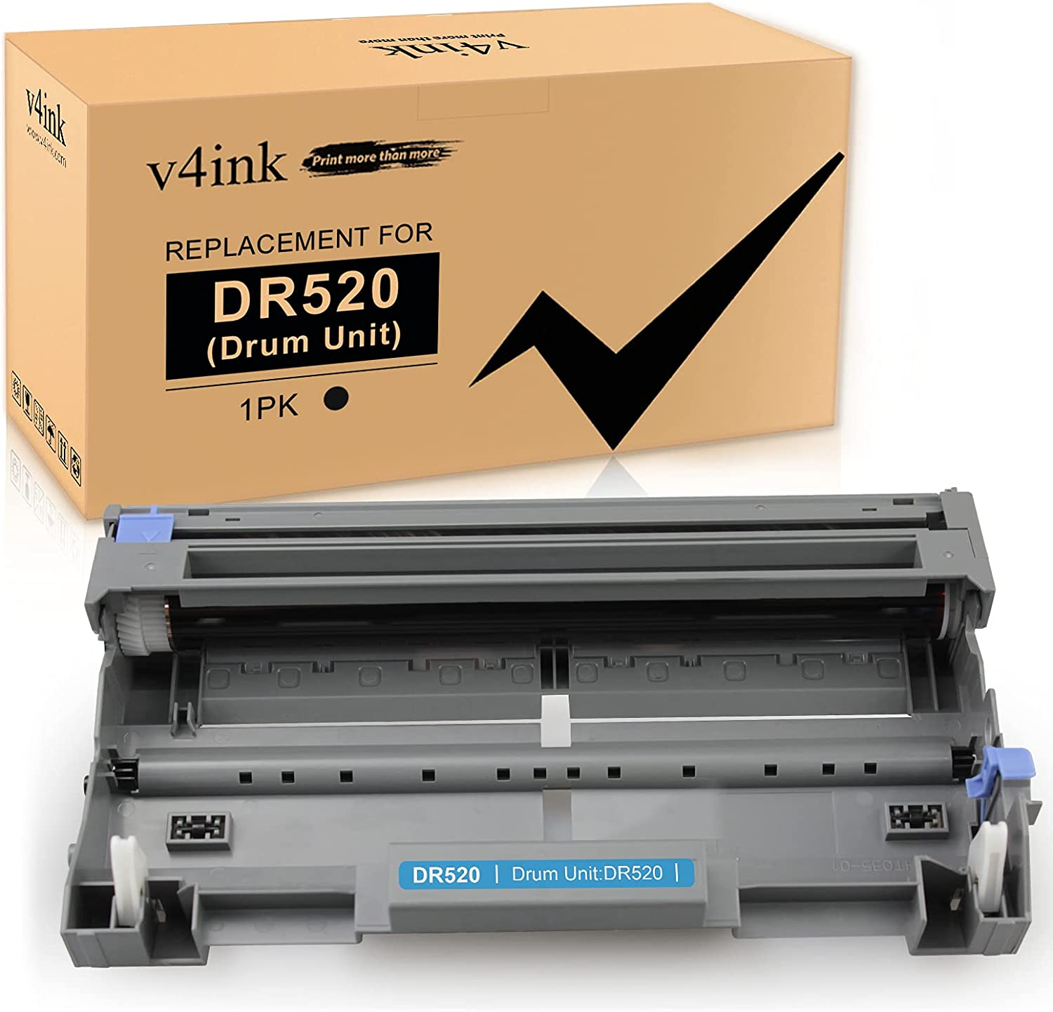 V4INK 1PK Compatible DR-620 DR-520 Drum Replacement for Brother DR520 DR620 Drum for Brother HL-5250DN HL-5340D HL-5370DW MFC-8480DN MFC-8690DW MFC-8860DN MFC-8890DW DCP-8060 DCP-8065DN Printer