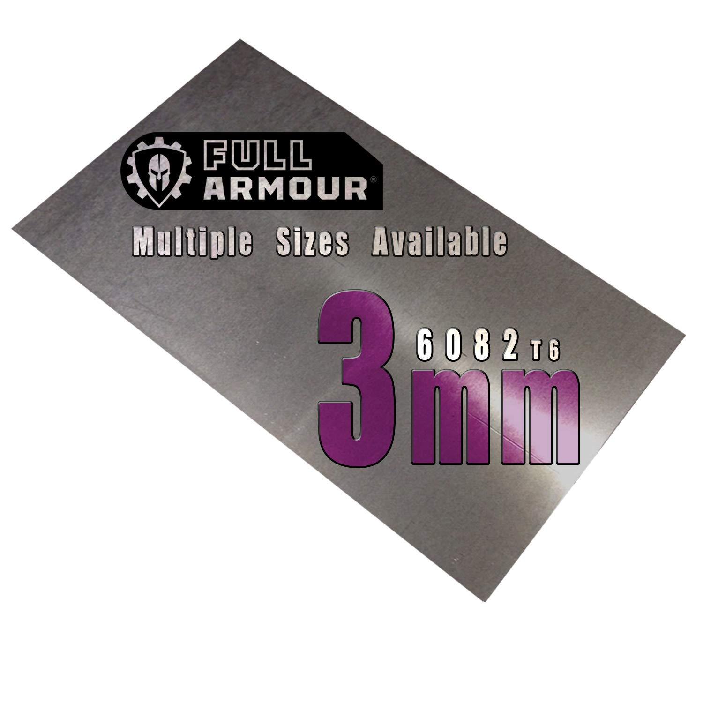 Placa de aluminio de 3 mm, grado 6082 T6 200 mm x 100 mm (20cm x 10cm)