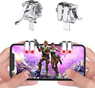 sunny seat Mobile Game Controller Claw Phone Aim Controller Triggers Joystick Gamepad Android iOS Joypad Fire Button Game Grip Mobile Phone Triggers(Adjustable Clip, 6 Fingers Cooperation)…
