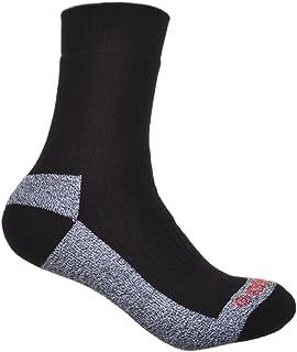2 pares de calcetines de algodón grueso Coolmax para caminar - negro EU 41-44