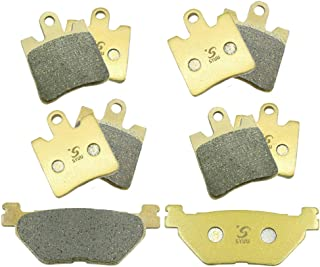 SYUU Motorcycle Replacement Front Rear Brake Pads Brakes for Yamaha FJR1300 FJR 1300 2006-2018 XV1900 XV 1900 A Midnight Star 2011-2016 FA423F FA319R