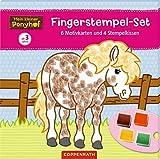 Mein kleiner Ponyhof: Fingerstempel-Set: 6 Motivkarten und 4 Stempelkissen - Philipp Roß