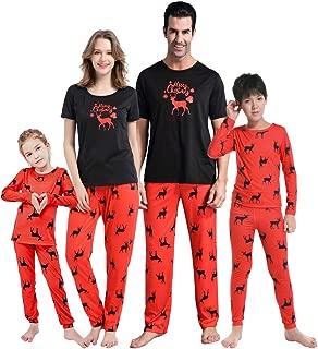 Matching Family Christmas Pajamas Set Soft Cotton Clothes Sleepwear