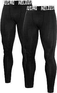 Neleus Men`s Compression Pants Running Tights Sport Leggings