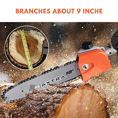 MAXTRA Gas Pole Saw, 42.7CC 2-Cycle Powerful Chainsaw Reach to 15 Foot Extendable Cordless Gas Long Reach Tree Trimmer Pruning Chain Saw with Portable Bag