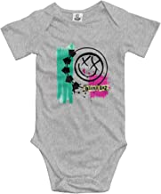 Darkfacai Baby Bodysuit Blink 182 Colorful Infant Romper Climbing Clothes Lovely Jumpsuit Outfits Black