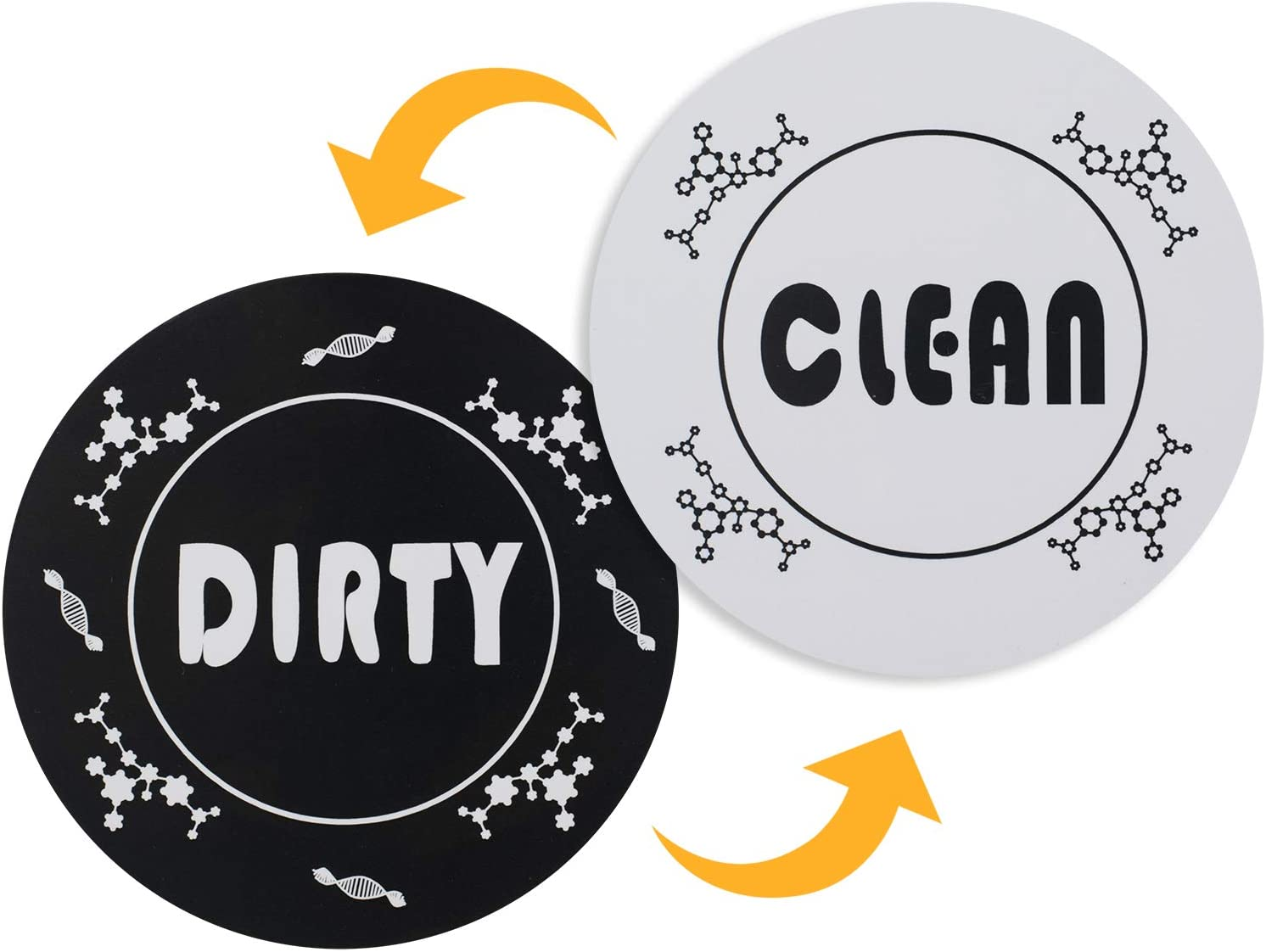 Aracky Dishwasher Fashionable Magnet Clean Dirty Spring new work F Sided Sign Double