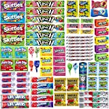 Assorted Candy Bulk Individually Wrapped Candies Assortment - Huge Party Mix of Airheads, Skittles, Sour Punch, Swedish Fish, Nerds, Twizzlers and More (76 Count Variety Pack, Appx. 3.5 Lbs)