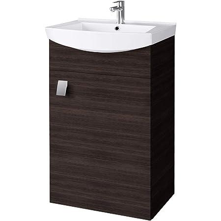Planetmobel Waschbecken Mit Waschbeckenunterschrank Waschtisch Unterschrank 45cm Gaste Bad Wc Wenge Amazon De Kuche Haushalt