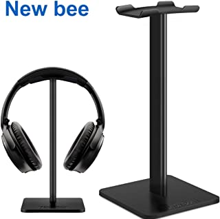 Headset Stand Gaming Headset Holder Over the Ear Display Desk Studio Mount Aluminum Hanger Universal Headrest ABS Stable B...